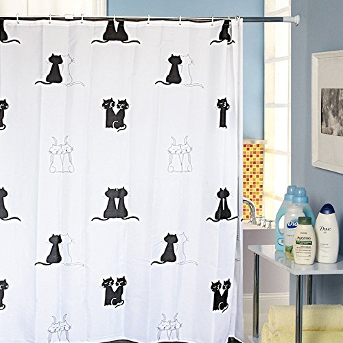 MBM(TM) Hello Kitty PEVA Waterproof Shower Curtain, Cartoon Shower Curtain