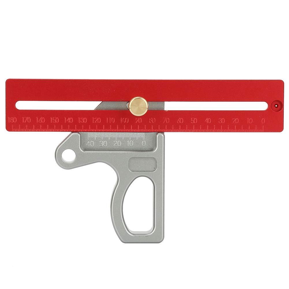 Huairdum Woodworking Angle Ruler, 45/90 Degree Angle Ruler Scribe Gauge Measuring Tool 200mm