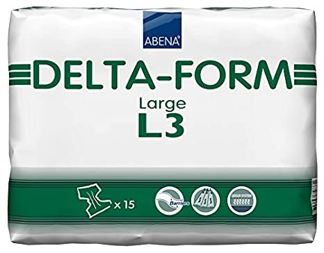 Amazon.com: Abena Delta Form Brief, Large, L3, 15 Count: Health & Personal Care