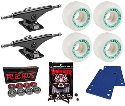 Venture Trucks Crest Team Edition Skateboard Trucks/52mm Bones Wheels/Bones Bearings/1