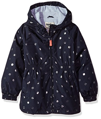 OshKosh B'Gosh Osh Kosh Little Girls' Fleece Lined Printed Anorak Jacket, Navy Dot, (Fleece Lined Anorak)