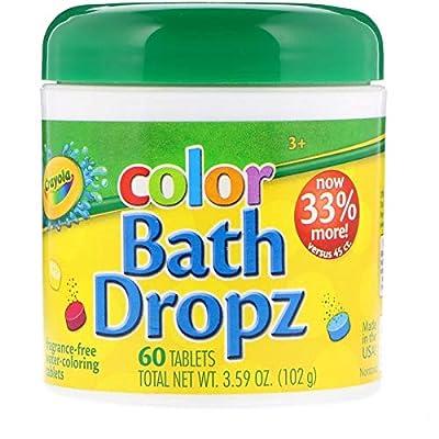 Crayola Color Bath Dropz, Fragrance Free 60 ea(Pack of 2) by Crayola: Toys & Games