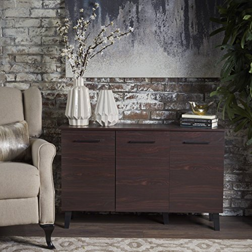 Emilia Side Board Cabinet | Scandinavian, Danish, Mid Century Modern Design | Perfect for Entryway, Dining or Living Room | Wenge ()