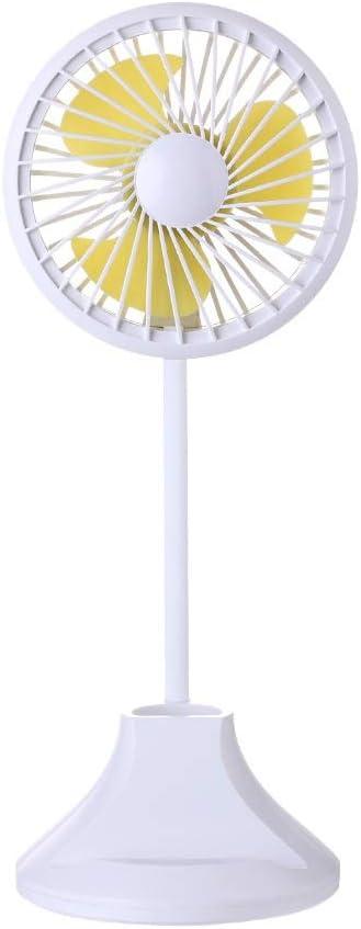 Ventilador eléctrico Ventilador de escritorio Lámpara recargable Alimentado por USB Ventilador personal 3 velocidades Flexible Cuello de cisne Lámpara LED pequeña Ventilador de mesa para el hogar, la