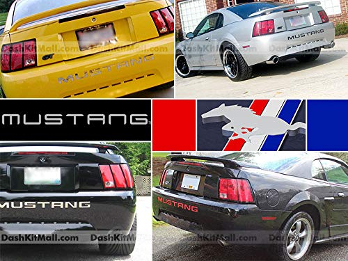 SF Sales USA Black Rear Bumper Letter Inserts for Mustang 1999-2004 Not Decals - Vinyl Bumper Insert Letters