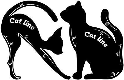 1 par de plantillas para delineador de ojos para gatos, fácil de maquillar, rápido: Amazon.es: Belleza