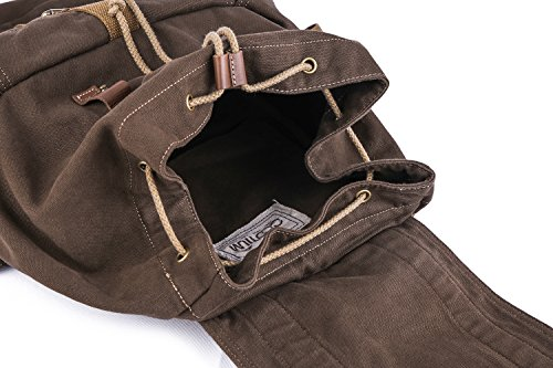 Gootium 21101CF Specially High Density Thick Canvas Backpack Rucksack,Coffee by Gootium (Image #7)