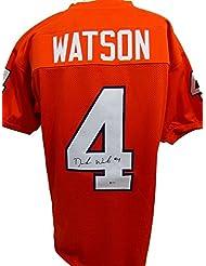 Deshaun Watson Clemson Tigers Autographed/Signed Orange Jersey Beckett 135668