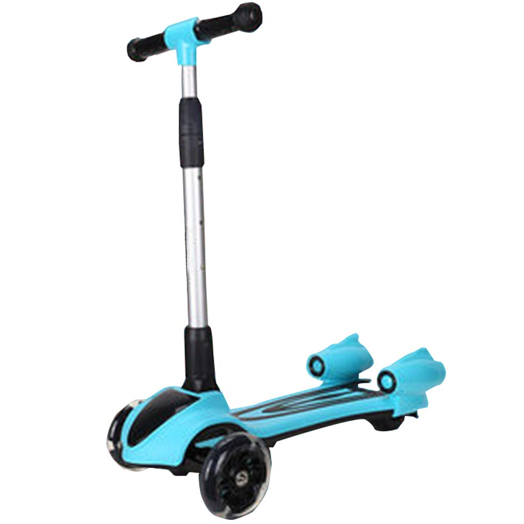 点滅するLEDを動かすのに傾くスクーターは4つの高さの調節可能な折り畳み式ライトおよび音楽を動かします ブルートゥースは3-8才の子供のために完璧な滑らかな乗馬に接続することができます B