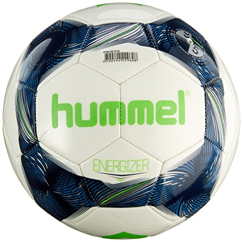 Hummel Street/Energizer - Balón de fútbol, White/Bright Navy/Neon Green, 4