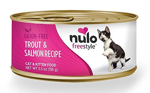 Nulo Adult & Kitten Grain Free Canned Wet Cat Food (Trout & Salmon Recipe, 5.5 Oz, Case Of 5)