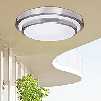 Lightinthebox Home Office White Flush Mount In Round Shape Modern Ceiling Light Fixture For