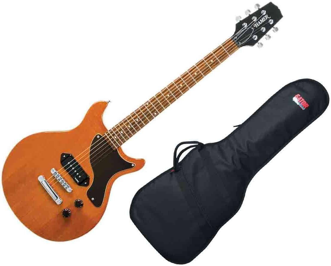 Hamer especial Jr. Bolsa de la guitarra eléctrica – Brillo natural ...