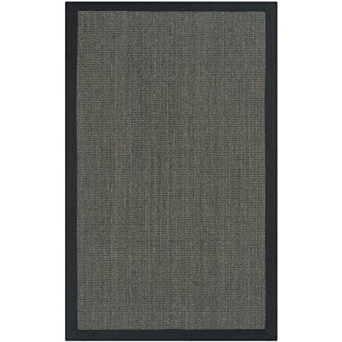 Safavieh Natural Fiber Collection NF441D Hand Woven Charcoal Sisal Area Rug (2'6