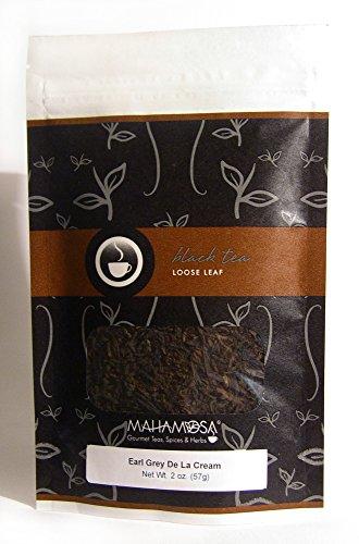 Mahamosa Earl Grey De La Cream Tea 2 oz - Loose Leaf Black Earl Grey Tea (with corn flowers, bergamot and vanilla flavors) (Vanilla Tea Loose Leaf Mahamosa)