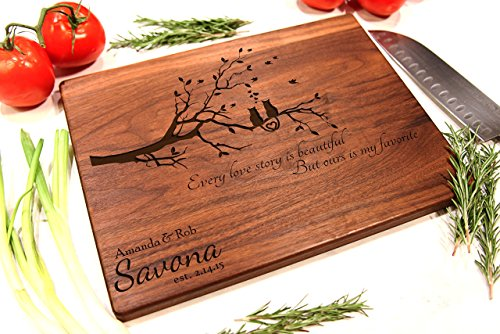 Personalized Cutting Board Engraved Chopping Block - Cats in ()
