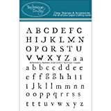 (US) Technique Tuesday Clear Stamps 3x4-Williamsburg Alphabet Small