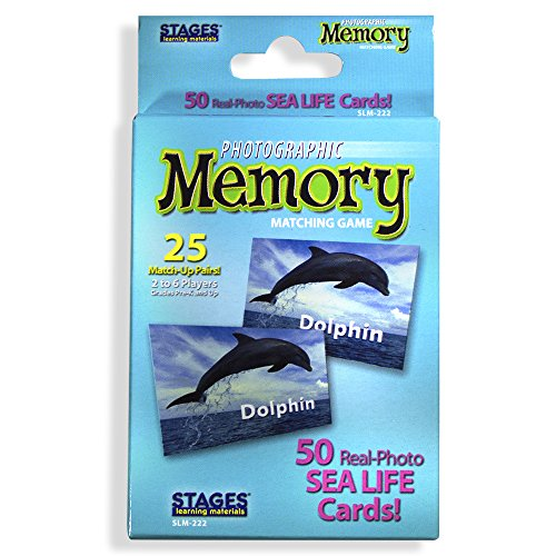 (Picture Memory Sea Life Card Real Photo Concentration Memory Game)