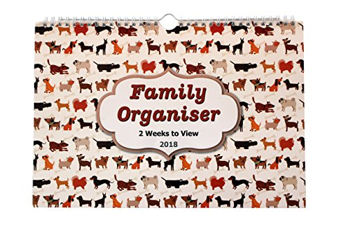 2018 family calendar Organiser planner for up to 5 people - 2 Week to View...