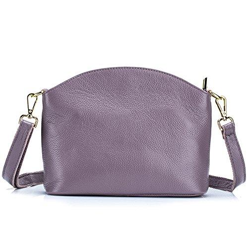 y Cremallera de Hombro Simple Cerrado Bolso Cuero Púrpura MeiliYH Mujer Casual AnYRUU
