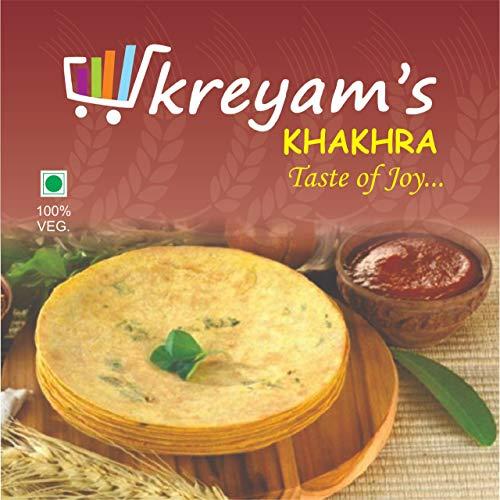 Kreyam's Tasty and Crispy Khakhra for Snacks (Plain, 400gm)