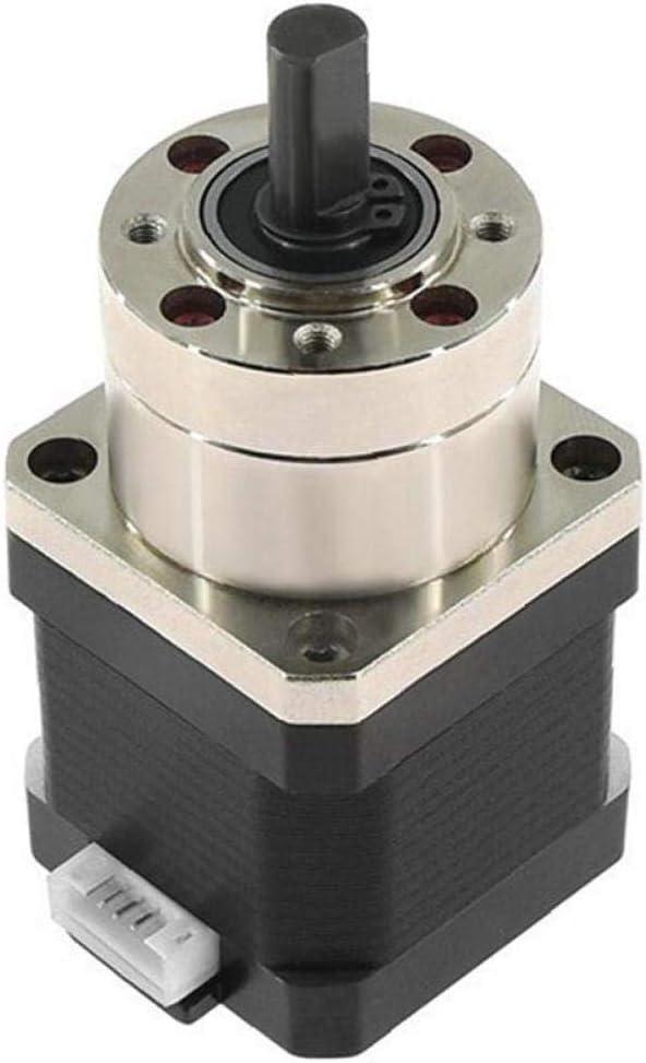 Amoyer 4-lead Nema17 Stepper Motor 42 Motor Extruder Gear Stepper Motor Ratio 5.18:1 Planetary Gearbox Nema 17 17hs4401