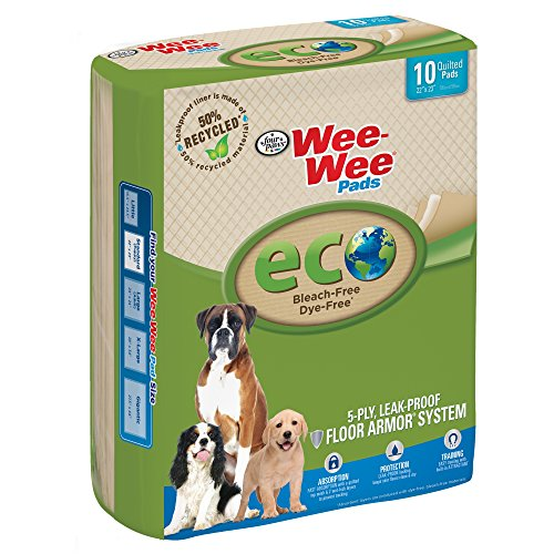(Wee- Wee Eco-Friendly Puppy Pads for Dogs, 10 Count)