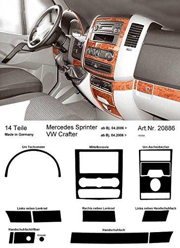 PreWoodec Armaturenbrett-Veredelung Wurzelholz für Mercedes Sprinter, 33486