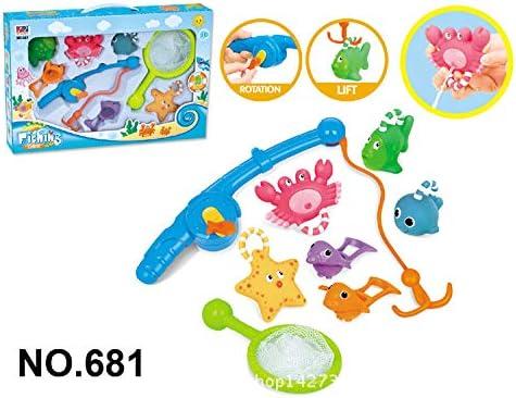 LULAA 魚釣りおもちゃ  お風呂 シャワー シャワー 水遊び玩具 子供 赤ちゃん 魚網 釣り竿付き  動物玩具6個 男の子 女の子 贈り物 誕生日プレゼント 8点セット