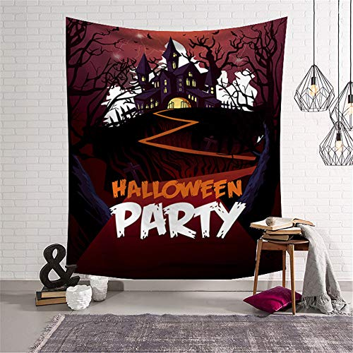 Tuscom Halloween Element CreativeHorror Bloody Ghost Print Tapestry Tablecloth Dorm Tapestry Sheet Wall Hanging (2Style 150x130cm 93x75 cm) (B)
