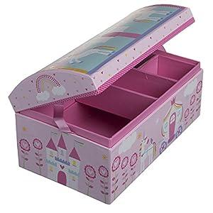 Tri-Coastal Design Paper Dome Jewelry Box Mirror Organizer Tray Kids Girls Women