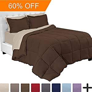 7-Piece Bed-In-A-Bag - Queen (Comforter Set: Cocoa, Sheet Set: Sand)