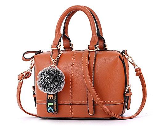 Pacchetto diagonale Personalità Handbag a spalla Marrone Bao cuscino Trend Borse semplice Fashion Borsa Bag Zipper Ladies CX7wnxqF
