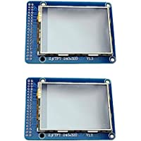 2pcs 2.4 Multicolor TFT Touchscreen LCD Display Based on ILI9325DS Controller with 240 x 320 Pixels Resolution, SD Card Slot and 74HC245D for Graphic Display from Optimus Electric