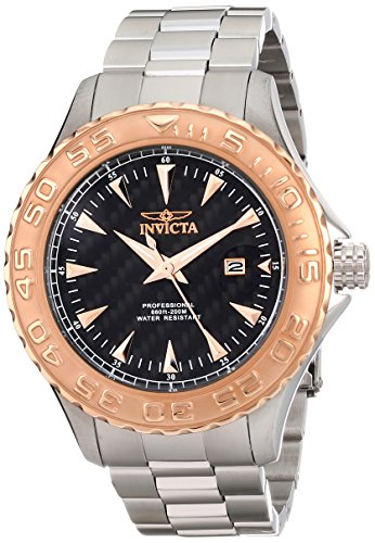 Invicta Men's 12557 Pro Diver Ocean Ghost Black Carbon Fi...