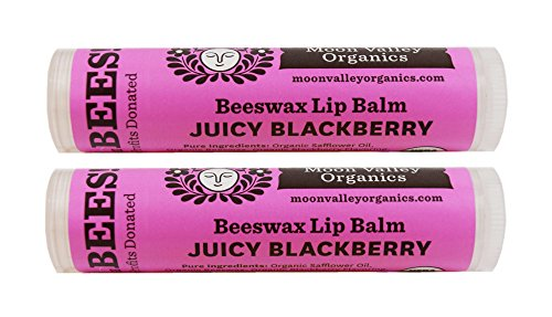 Moon Valley Organics Herbal Lip Balm - Juicy Blackberry, 0.15 oz (Pack of (0.15 Ounce Balm)