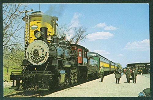 (Baldwin 2-8-0 Engine No 15 Water Tank Riverside Station Train Railroad Postcard)