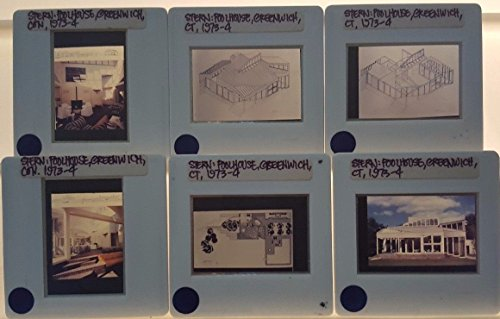 6 ROBERT STERN Architecture 35mm Picture Slides of POOLHOUSE in GREENWICH - Stores Greenwich Ct