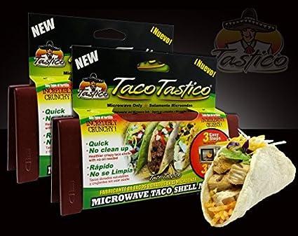 Amazon.com: Taco Tastico - Microwave Taco Shell Maker - Save ...
