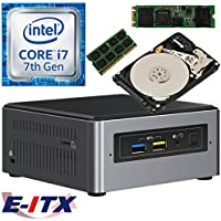 Intel NUC7I7BNH 7th Gen (Kaby Lake) Core i7 System (BOXNUC7I7BNH), 4GB DDR4, 480GB M.2 SSD, 1TB HDD, NO OS, Pre-Assembled and Tested by E-ITX