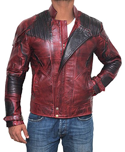 Star Lord Costume for Halloween 2017 - Cosplay Leather Jacket PU | Maroon, L