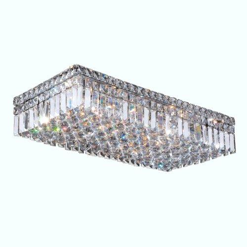 Worldwide-Lighting-W33530C24-Cascade-6-Light-with-Clear-Crystal-Ceiling-Light-Chrome-Finish