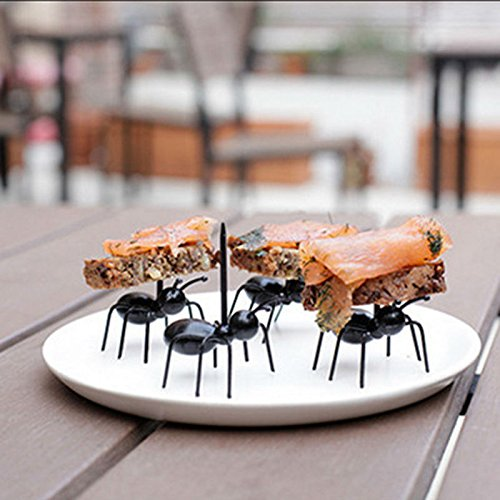 Dirt Devil Kids Costumes - Money coming shop 12pcs/set Cute Mini Ant Fruit Fork Eco Friendly Plastic Easy Decoration Kitchen Bar Kids Dessert Forks Tableware