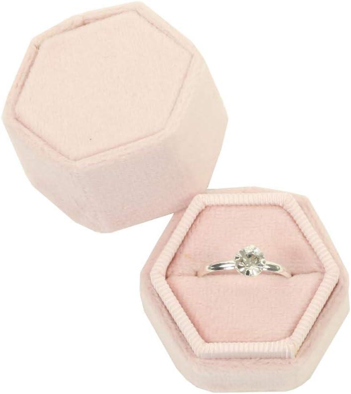 Pink floral wooden geometric box Wedding ring bearer pillow Shabby chic Wedding ring box Bridesmaid proposal hexagonal box Ready to ship