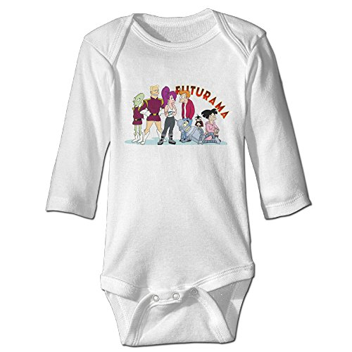 Futurama Logo Characters Meme Fashion Babys  Child Long Sleeve Bodysuit Cotton