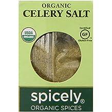 Spicely Organic Celery Salt 0.50 Ounce ecoBox Certified Gluten Free