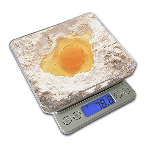 Mini Electronic Digital Scale LCD Display Pocket Portable Stainless Steel Precision Kitchen Jewelry Balance Weight Scales(500g X 0.01 )