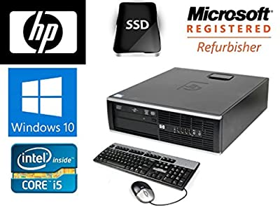 HP 8100 Elite SFF Win 10 Pro 64 bit i5(3.2GHz) 8GB DDR3 120GB SSD DVD-ROM
