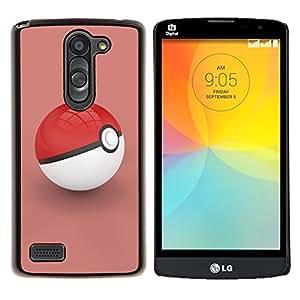 LECELL--Funda protectora / Cubierta / Piel For LG L Bello L Prime -- Empuje Red --