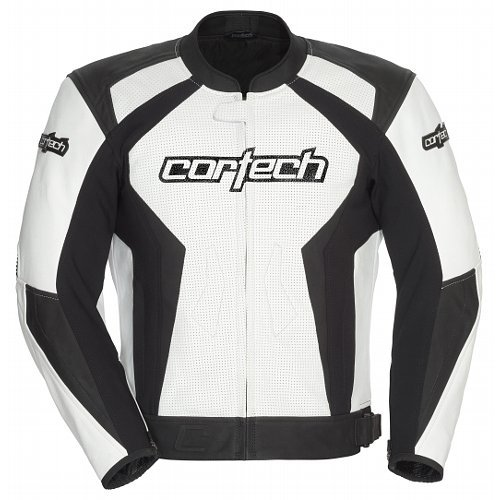 Cortech Latigo 2.0 Men's Leather Motorcycle Jacket (White/Black, ()